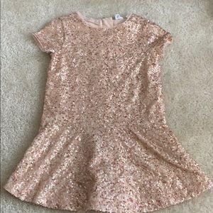 Gap sequin pink dress